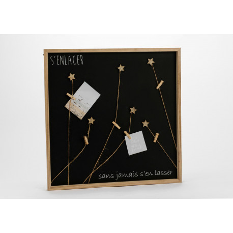 Pêle-mêle magnétique avec message et petites étoiles