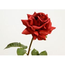 """Rose rouge artificielle """"Pristine"""""""