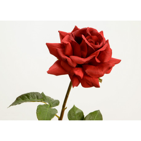 "Rose rouge artificielle ""Pristine"""