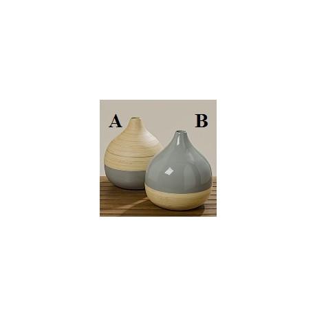 """Vase """"dame Jeanne """" en céramique emaillé"""