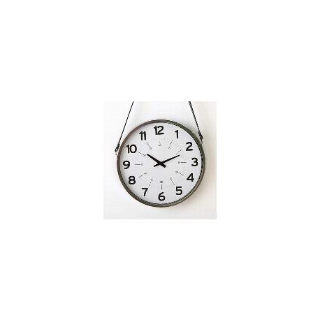 "Horloge""Dexter"" avec lien en cuir"