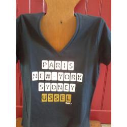 T -shirt femme Kapitales personnalisé USSEL