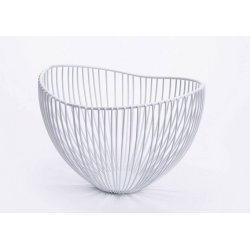 Corbeille en métal blanc