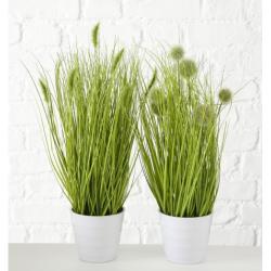 """Plante artificielle en pot """"graminées"""""""