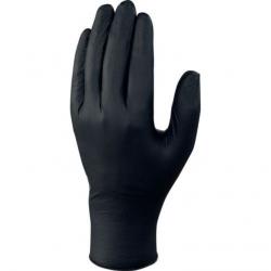 Boite 100 gants nitrile non poudré noir