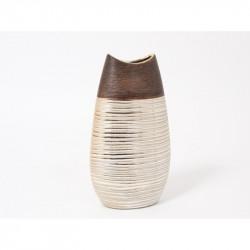 """Vase ovale en céramique or """"Douala"""""""