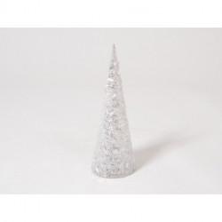 """Décoration de noël cône LED Blanc """"Christmas"""""""