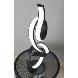 Lampe LED noir double boucle