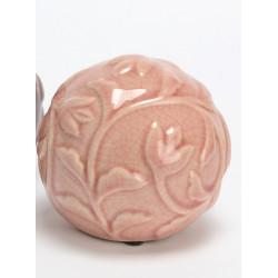 """Boule céramique """"Bois de rose"""""""