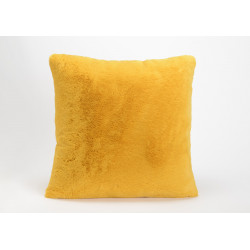 Coussin luxe Jaune moutarde