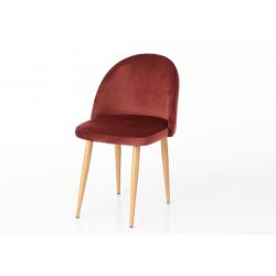 Chaise en velours bordeaux