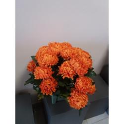Fleurissement de tombe en Chrysanthème artificiel