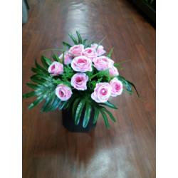 Fleurissement de tombe ,cône pour vase en fleurs artificielles