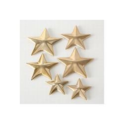 Étoiles décorative en métal or