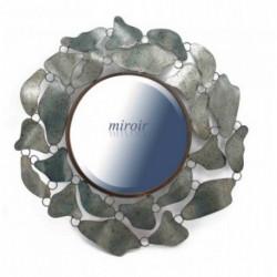 Miroir rond entouré de feuillage métallique BEAUX-ARTS