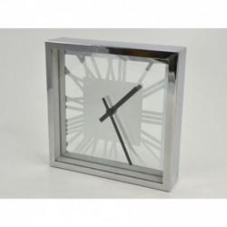 Horloge carrée TRANSPARENCE