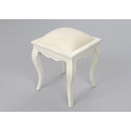 Tabouret Dagobert murano blanc