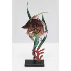 Statuette poisson en métal sur socle HISTOIRE DE FER