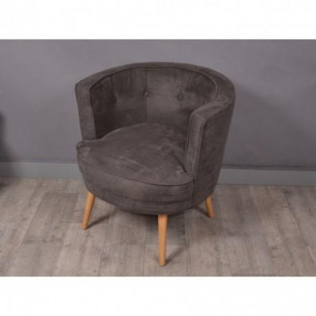 WILMA fauteuil gris foncé