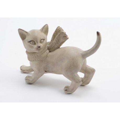 Statuette chat avec écharpe Gaspard