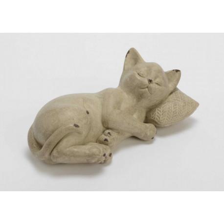 Statuette chat repos Leo