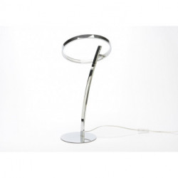 Lampe cercle chrome LED