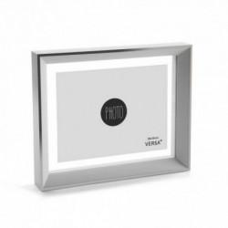 CADRE PHOTO BLANC/ARGENT 20x15 cm