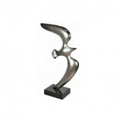 Statuette sur socle Oiseau en vol gris
