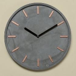 Horloge murale en beton gris Gela
