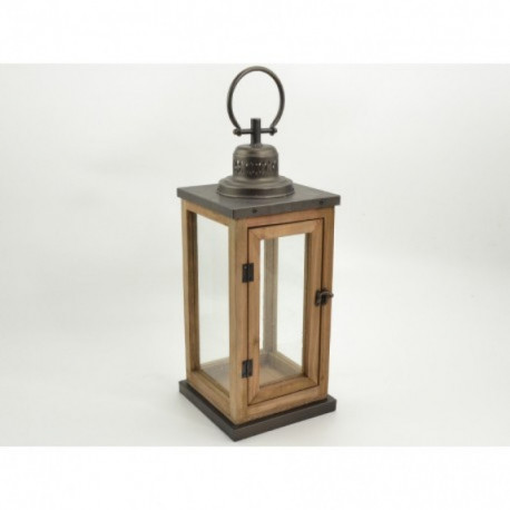 Lanterne en bois BRUGES 48 cm