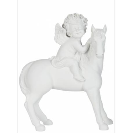 Statuette ange à cheval grand format