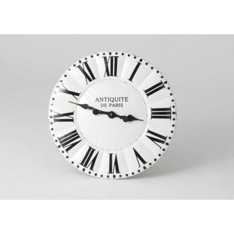 Horloge blanche métal