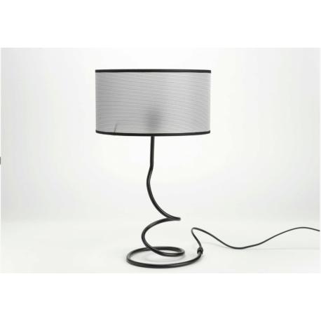 Lampe de table Emilie abajour Maya gris