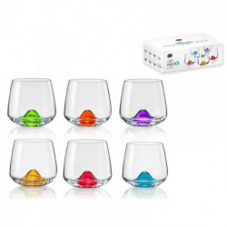 Verre colorés boite 6 verres ISLAND