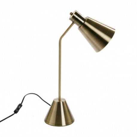 Lampe de bureau couleur or CONE