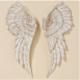 Déco murale ailes d'ange H 55 cm