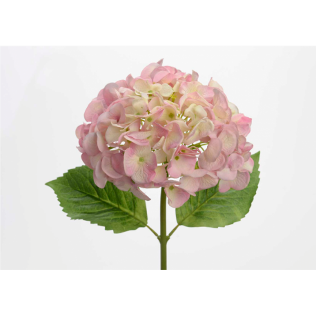 Hortensia rose artificiel fresh touch h 47 cm