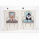 Toile funny dogs 30 x 40 cm