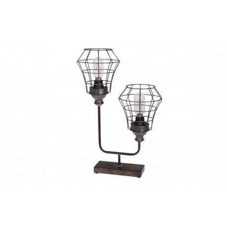 Lampe a poser avec deux ampoules LED