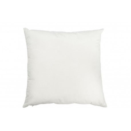 Coussin Velours Blanc 45 X 45 cm