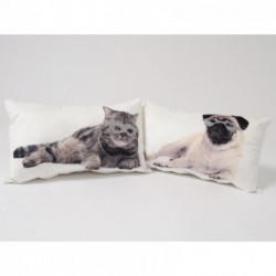 Coussin rectangulaire chat ou chien à lunettes SOFT