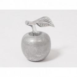 Statuette pomme argenté 11 cm FEERIE