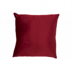 Coussin Carre Velours Rouge