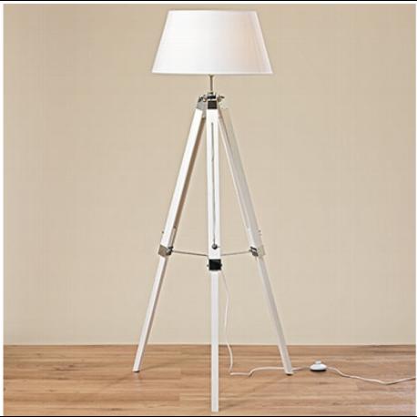 Lampadaire en pin blanc à hauteur réglable H146 cm