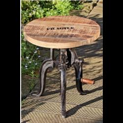 Table en manguier à hauteur réglableavec manivelle Flexo
