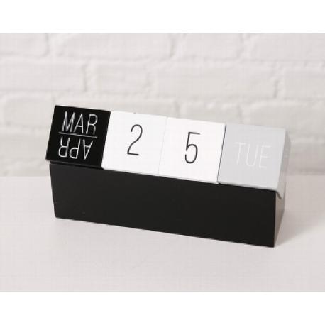 Calendrier cube en bois 12 cm