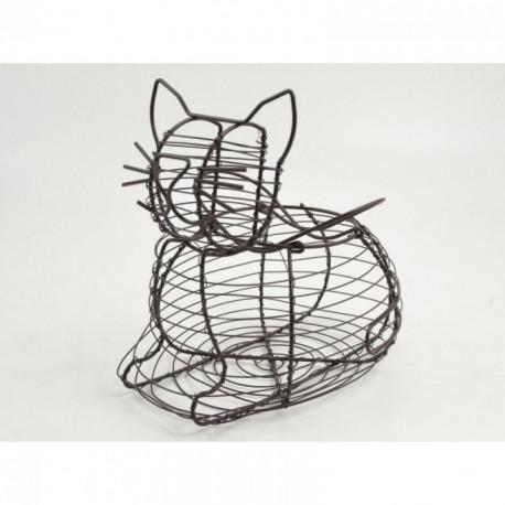 Panier métallique en forme de chat FARMER