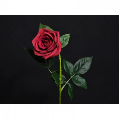 Rose rouge artificielle 69 cm