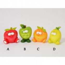 Statuettes fruits très colorés en céramique VITAMINES