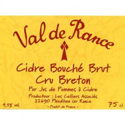 CIDRE BRETON BRUT ou DOUX VAL DE RANCE